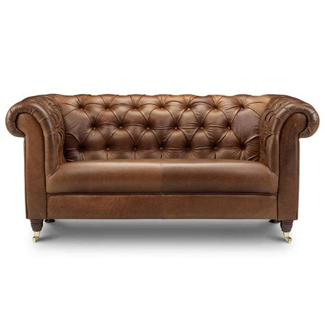 Chesterfield Leather Or Tweed Sofa Two Or Three Seater By The Chesterfield Sofa