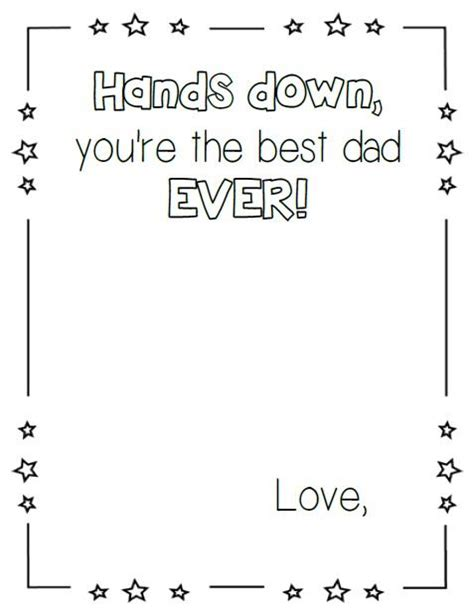 preschool fathers day card templates print s day craft printables
