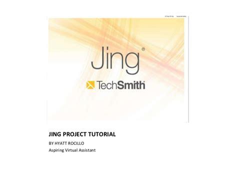 Jing Tutorial Powerpoint | jing tutorial