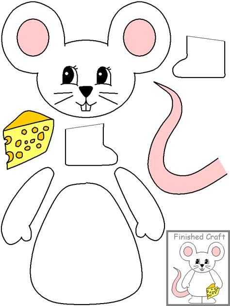 paper bag mouse puppet pattern kz