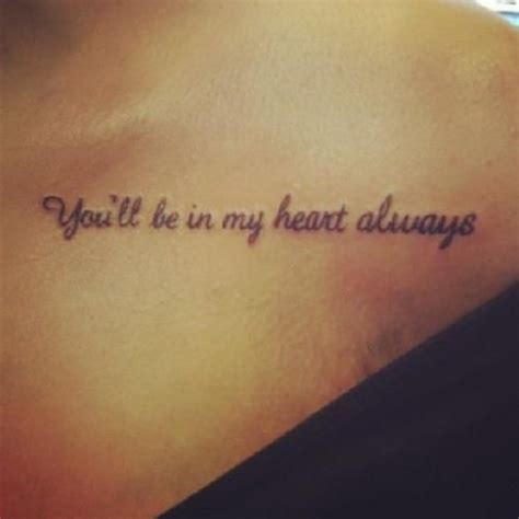 forever in my heart tattoo you ll be in my always i want to get this