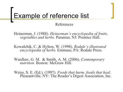 reference section apa format apa citation style