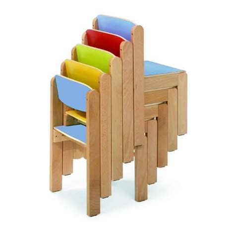 sillas para aulas silla escolar apilable madera mobeduc segurbaby