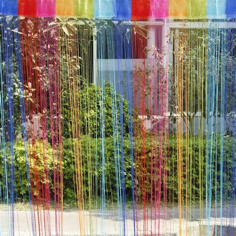 vorhang quasten bunte tuer fenster panel raumteiler schnur vorhang