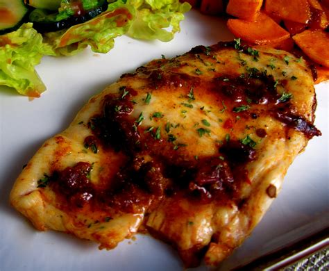 spiced chipotle honey chicken breasts with sweet potatoes recipe dishmaps