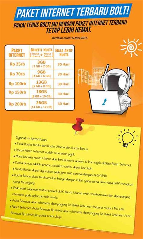 Bolt Superflex 13gb 24jam 30 Hari harga paket kuota data bolt terbaru 2015 gadgetren