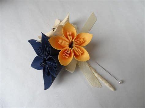 Buttonhole Flower Origami - origami flower buttonhole five petal paper kusudama