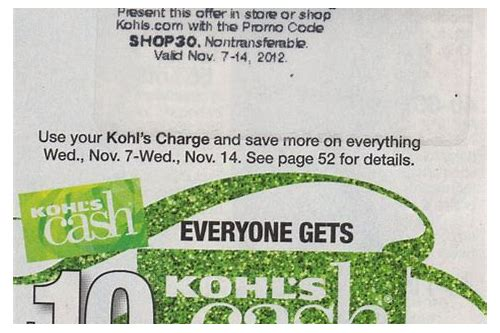 kohls in store coupons with kohls card