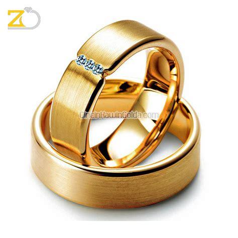 Assorted Cincin Emas Pasangan cincin kawin emas kuning sepasang 22k gd33052