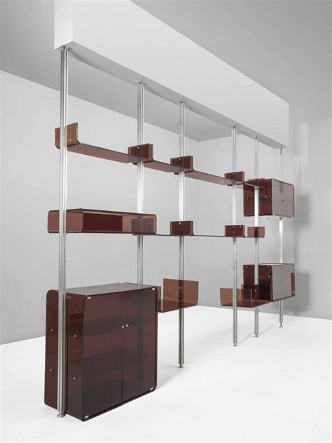 modular wall shelves michel ducaroy modular wall unit in acrylic and aluminum