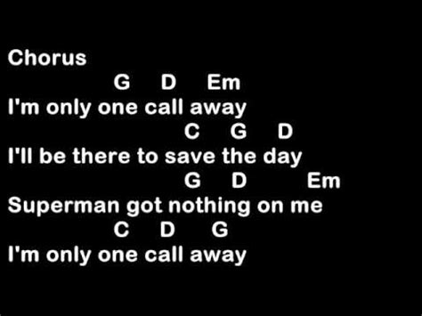 tutorial guitar one call away one call away charlie puth easy guitar chords youtube