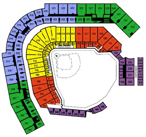 pnc seating chart pnc park seating chart with rows pittsburgh