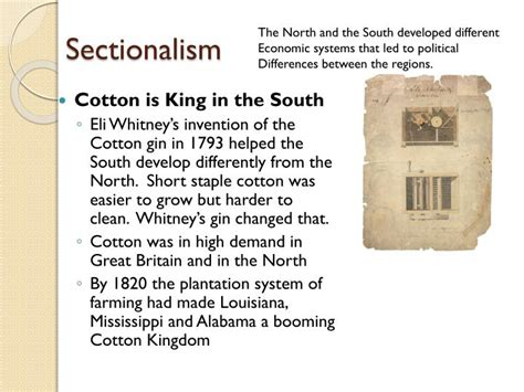 Ppt Nationalism And Sectionalism During The Age Of