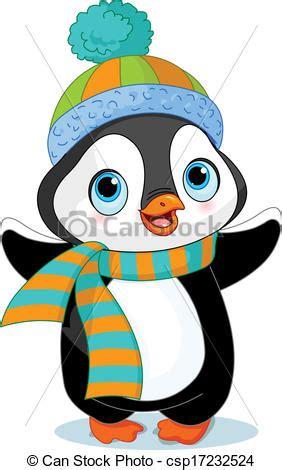 clipart inverno ilustraciones de vectores de lindo invierno ping 252 ino