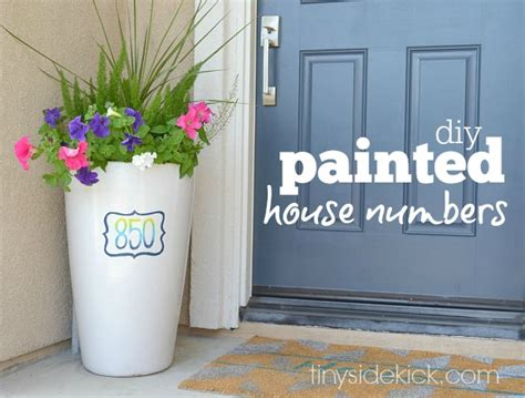 spring decorating ideas for your front door hand painted house numbers spring decorating