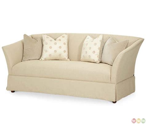 aico sofas michael amini after eight light gold upholstered flare arm