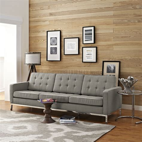 sofa größe loft eei 2052 gra sofa in granite fabric by modway w options