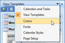 modify calendar printing assistant templates