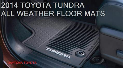 Toyota All Weather Floor Mats New 2014 2017 Toyota Tundra Cab All Weather Floor