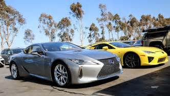 the lexus lc 500h lexus lfa together in california