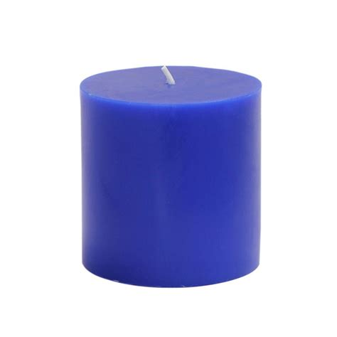 blue candle lighting zest candle 3 in x 3 in blue pillar candles bulk 12