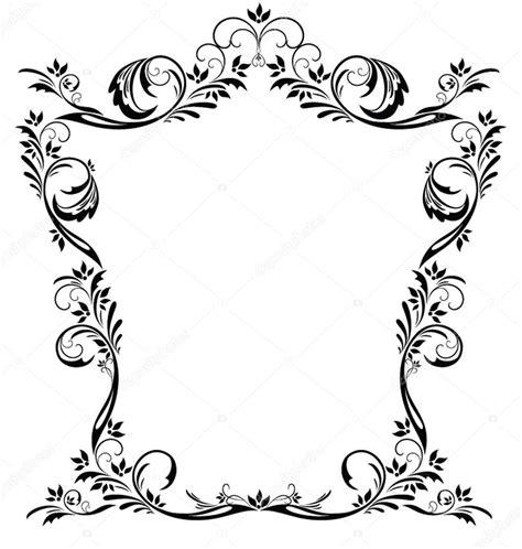 cornici floreali da stare cornice floreale vettoriale vintage vettoriali stock