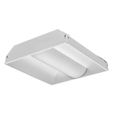 Lithonia Light Fixtures Lithonia Lighting 2 Ft 2 Light Spec Fluorescent Premium Troffer 2av G 2 Cf40 Mdr Mvolt Geb10rs