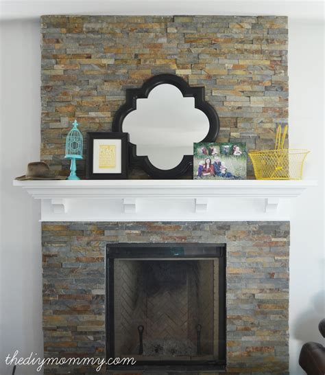 Diy Fireplace by Building Our Fireplace Installing The Slate Split
