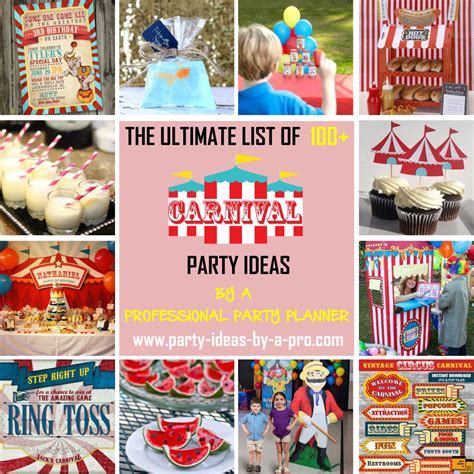 carnival themed names creepy carnival halloween party ideas