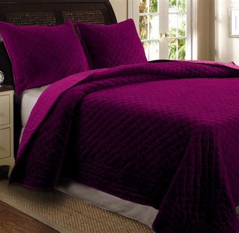 Cotton Velvet Quilt by Greenland Home Cotton Velvet Quilt Set In Amethyst