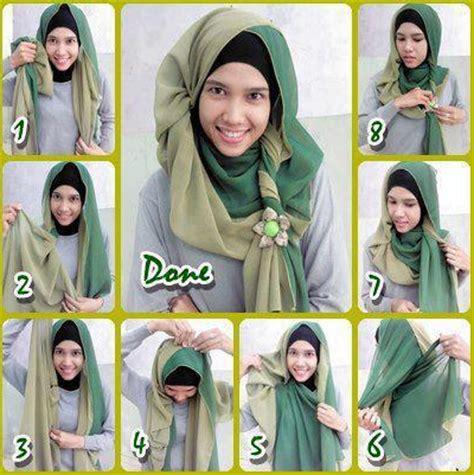 Aneka Jilbab Segi Empat cara memakai jilbab segi empat kreasi