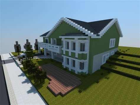 minecraft house building realistic family house minecraft house design