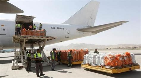 flight marks new air cargo link between india and afghanistan the indian express