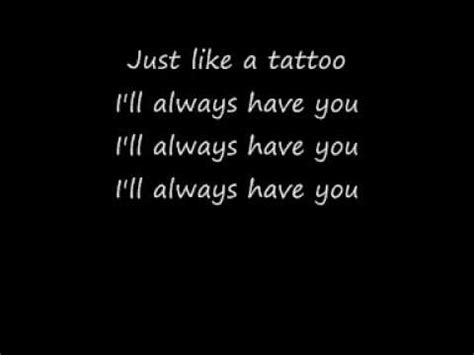 tattoo by jordin sparks lyrics and chords jordin sparks tattoo with lyrics youtube