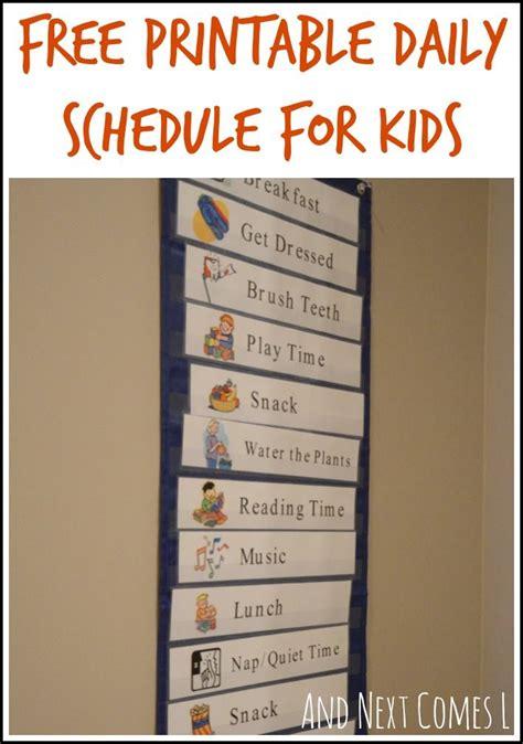 printable daily school schedule free printable daily visual schedule free printable