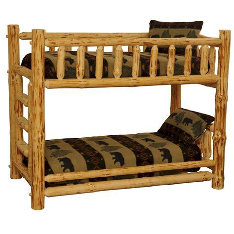rustic log beds rustic pine log bunkbeds big bear lodge bunk beds the