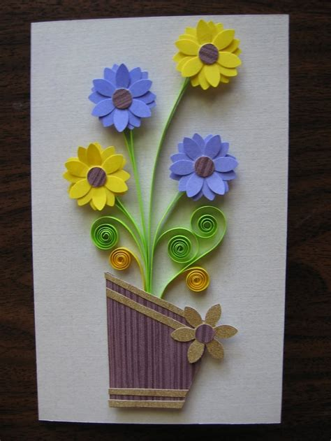 quilling vase tutorial quilling ideas bing images cards quilling