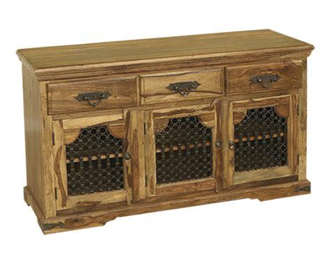 Indian Sideboard Furniture by Bali Sheesham Indian Wood Furniture 3 Door Sideboard Cabinet