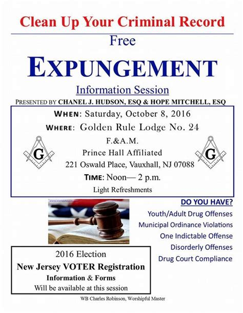 Expunge Federal Criminal Record Golden Rule Lodge To Host Informational Session On Expungement News Tapinto