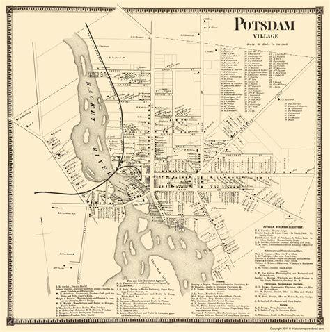map of new york villages historic city maps potsdam new york landowner