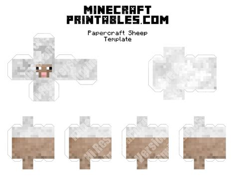 Papercraft Sheep - minecraft sheep 3d printable minecraft sheep papercraft
