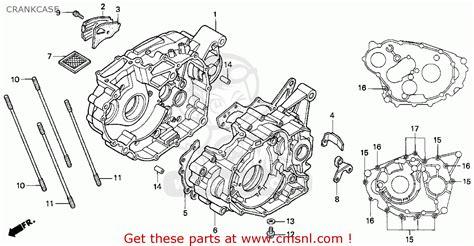 honda fourtrax 300 parts diagram honda trx300ex fourtrax 300ex 1994 r usa crankcase
