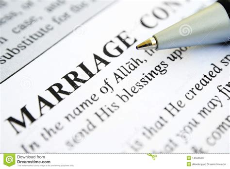 muslim marriage contract royalty free stock images image
