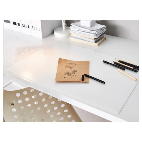 clear plastic desk pad whitevan