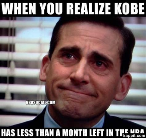Steve Carell Memes - when you realize kobe has less than a month left in the nba