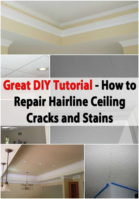 how to fix ceiling cracks great diy tutorial for repairing hairline ceiling cracks and stains diy crafts stains