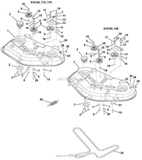gravely mower parts diagram gravely 915148 035000 zt 42 parts diagram for mower
