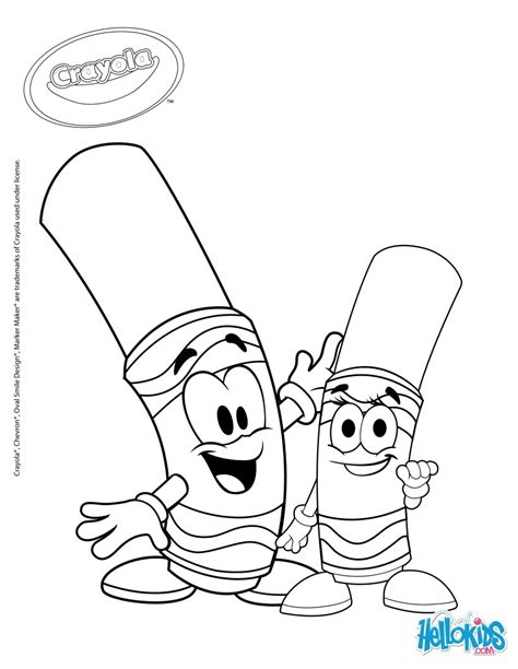 crayola 8 coloring pages hellokids com