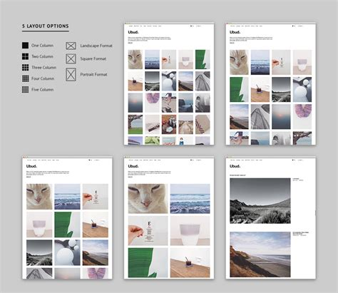 grid layout in wordpress ubud our newest minimal photography wordpress theme