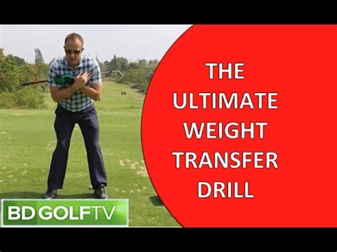 weight transfer golf swing drills the ultimate weight transfer drill for golf youtube